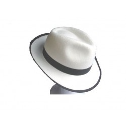 Sombrero Ganster Blanco Adulto